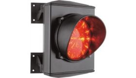 ASF25L1R Apollo verkeerslicht met LED rood 24V. Aluminium behuizing met rode lens van 120mm en een LED-kaart met 25 LED's.