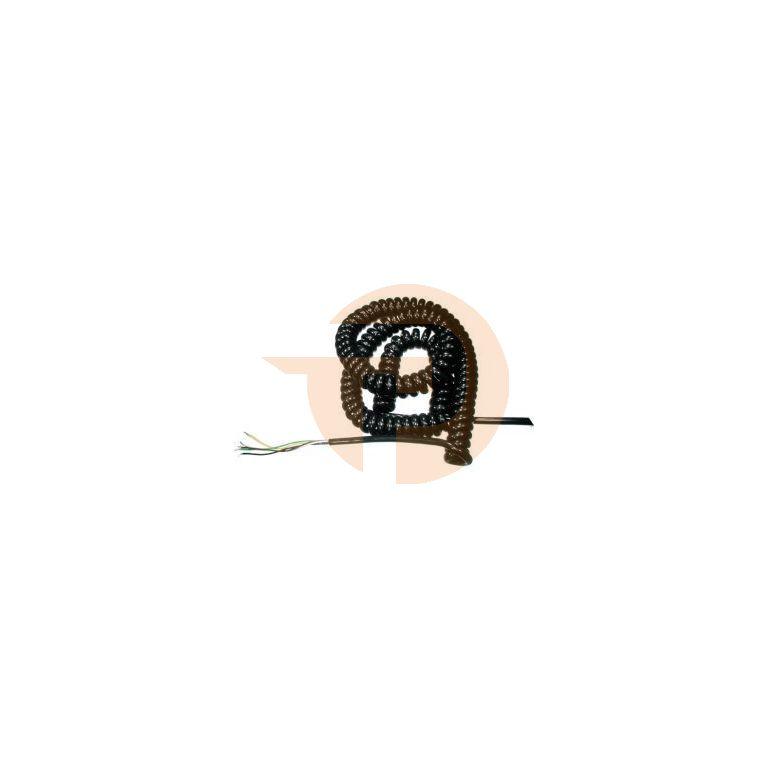 Spiraalkabel 5x0,25mm2 uitrekbaar tot 4 meter