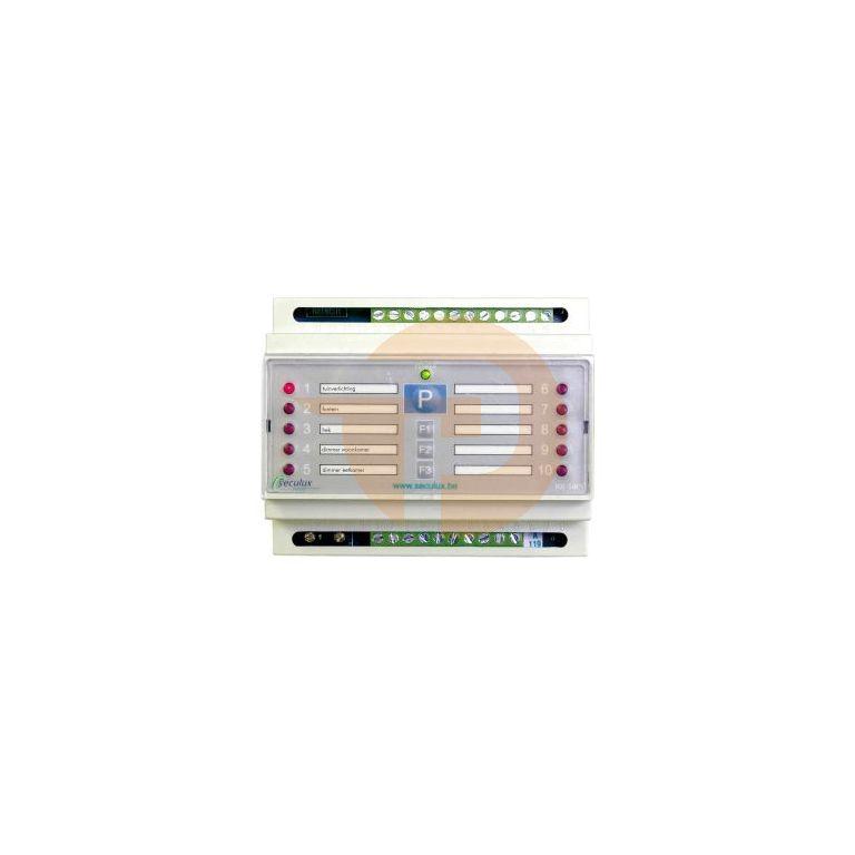 Ontvanger RX10-P2 met 10 kanalen DIN-rail voor max 500 zende
