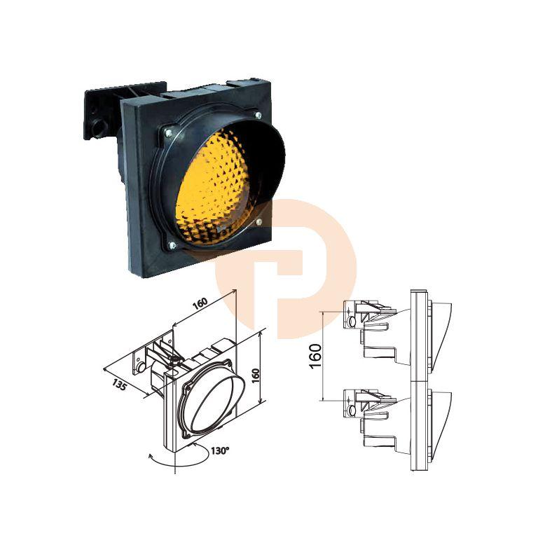 Verkeerslicht Apollo Plast oranje lens 120mm tbv E27 lamp