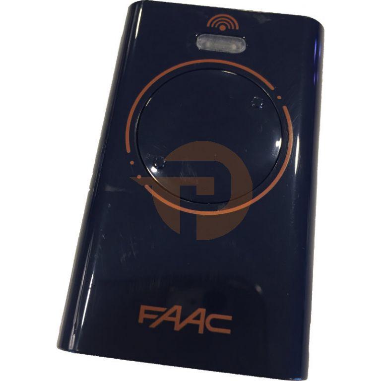 Handzender Faac XT2 433 SL met 2 kanalen Blauw/Oranje