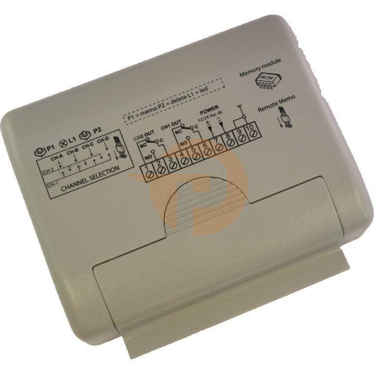 Ontvanger Cardin RQM504C2 mini 2 kanalen 433 MHz