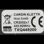 Handzender Cardin TXQ449200 met 2 kanalen